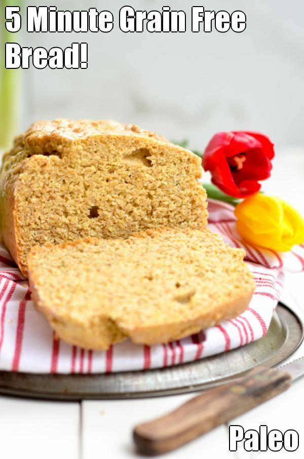 5 Minute Grain Free Bread! Paleo & Gluten Free…