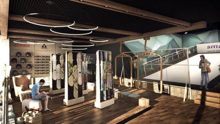 SmartSki Slop in Timisoara. Design: Ezzo Design Finishing materials (wood & tilles): Tempini Romania