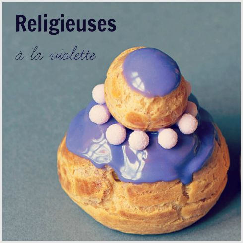 #Recette : #religieuses à la violette !