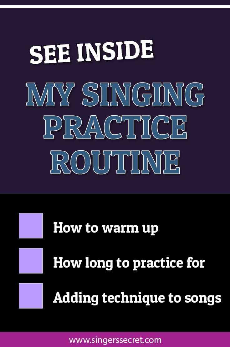 Get a sneak look inside my own singing practice routine where I answer all your questions about how to practice effectively and get the most out of each session. http://singerssecret.com/see-inside-my-singing-practice-routine/