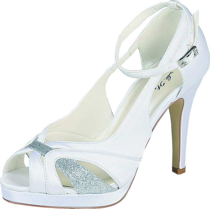Stunning wedding peep-toe sandals by G.Westerleigh