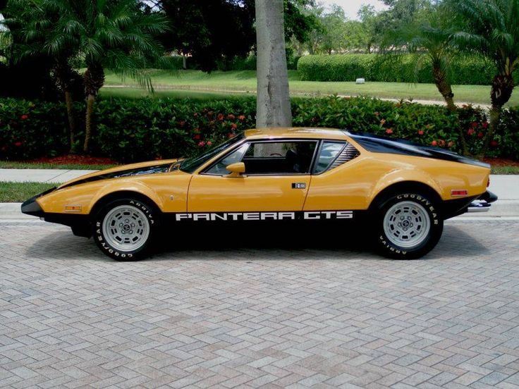 1974 DeTomaso Pantera GTS: The Italian-American hybrid was sold in the United States from 1971 to 1974 through Ford's Lincoln-Mercury dealer network.