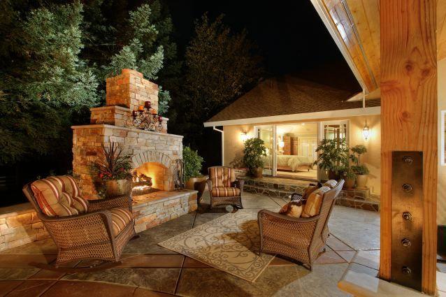 WOW!!!: Outdoor Ideas, Outdoor Living, Living Spaces, Dream House, Patio, Backyard, Outdoor Fireplaces, Outdoor Spaces, Garden