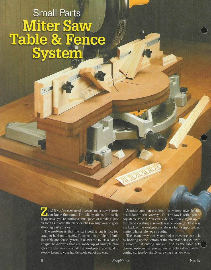 Small Parts Miter Saw Table & Fence System Miter saw