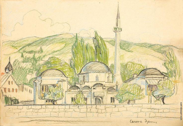 http://artpoisk.info/artist/kiseleva_elena_andreevna_1878/mechet_v_saraeve/ Киселева Е. А. Мечеть в Сараеве