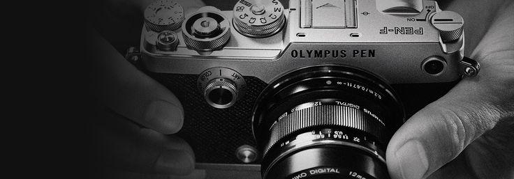 オリンパスのブランドのオリンパスのデザインのミラーレス一眼カメラ OLYMPUS PEN-Fのページです。