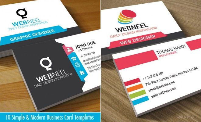 10 Simple And Modern Business Card Templates Free Download Business Card Template Free Business Card Templates Business Card Design