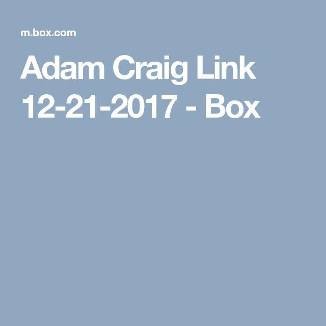 Adam Craig Link 12-21-2017 - Box