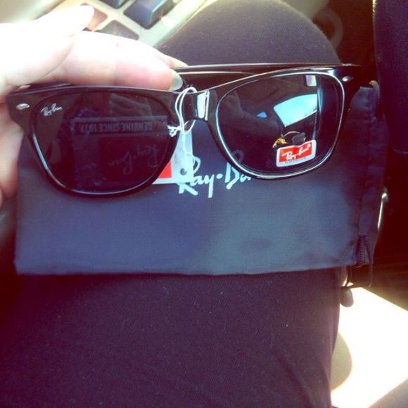 Ray-ban wayfarer Black ray bans - good quality not authentic I can also get many other styled raybans as pictured above if you see something you'd like I can make another listing. No trades Ray-Ban Accessories Sunglasses