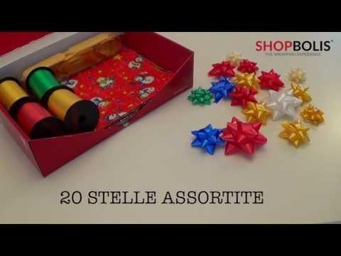 E poi arriva il regalo...KIT NATALE BAMBINI: 4 Rocche nastro 10mm x 50m, 6 fiocchi diam 120mm, 20 Stelle misure assortite, 10 Fogli carta regalo fantasia bambini Natale 0,70 x 1m. (Colori e fantasie assortiti) https://www.shopbolis.com/it/categoria/kit/…