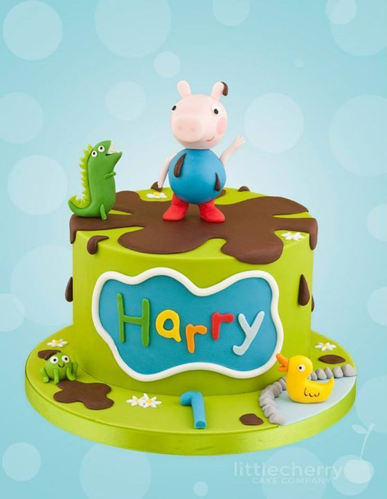 George Pig cake for my godson ❤️ think this is the one to go with