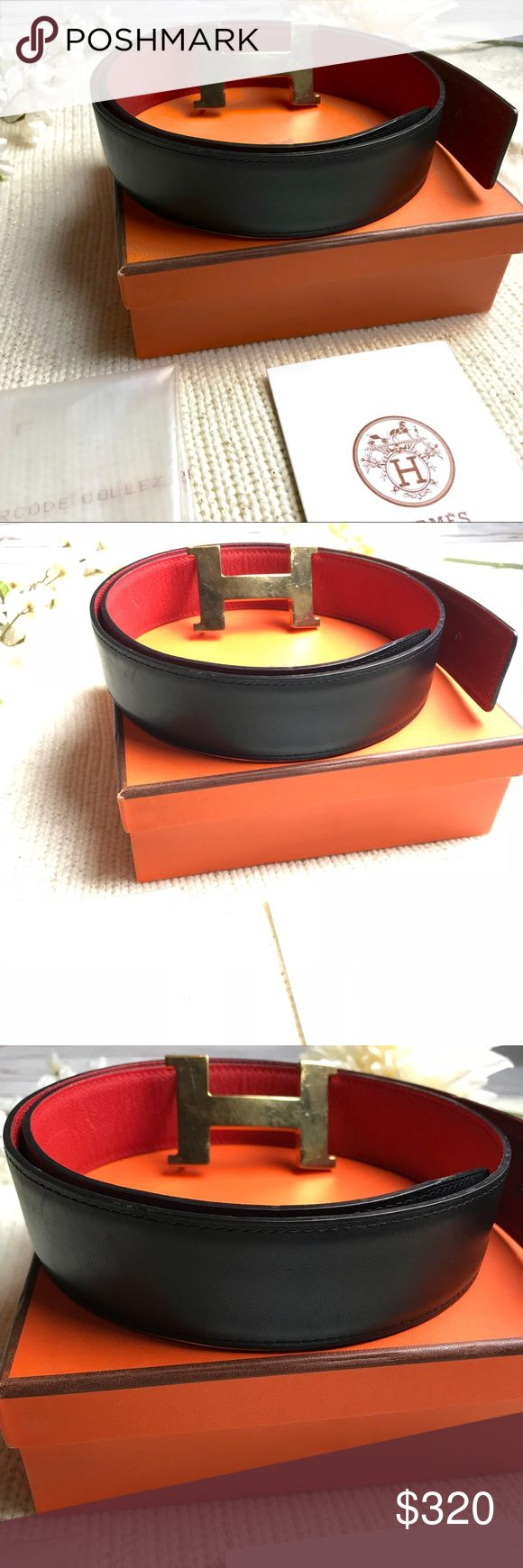 Hermès H Belt Buckle Reversible Leather Strap 32mm Hermès H Belt Buckle Reversible Leather Strap 32mm.  Minor scratches on the H buckle as shown in pictures.  Otherwise, in really great condition. Hermes Accessories Belts