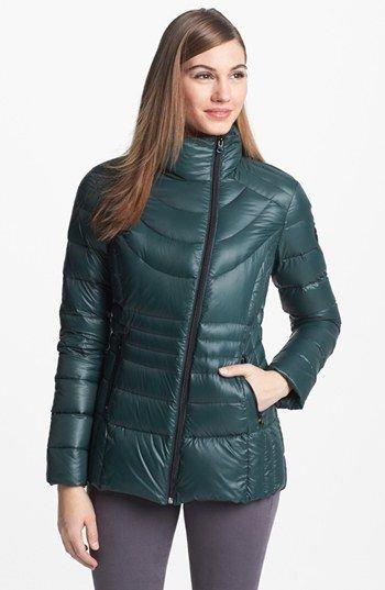 Bernardo Asymmetrical Zip Packable Goose Down Jacket Sale: $98.90