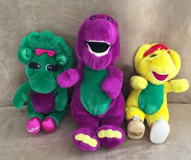Barney Plush lot Baby Bop BJ 13 & 15