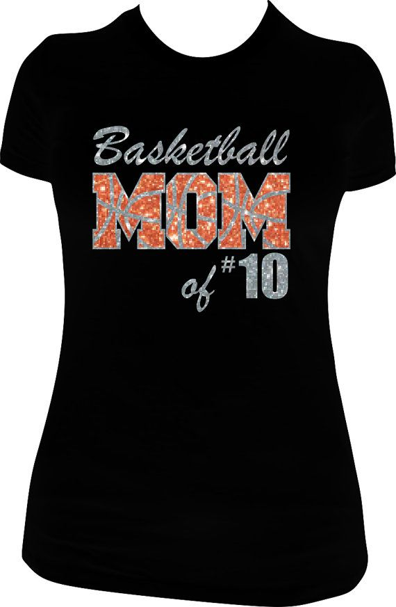 basketball shirt basketball mom shirt with sparkly by spiritloft