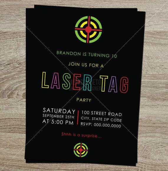 Laser Tag Party Invitation was best invitation design