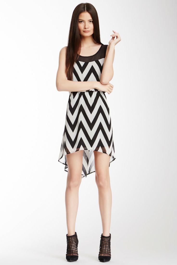 Couture Zigzag Hi-Lo Dress