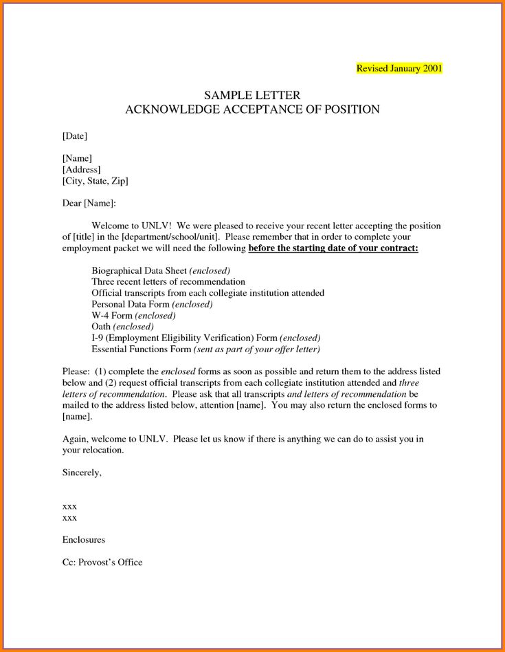 Example Of An Acceptance Letter Penn Working Papers With Regard To