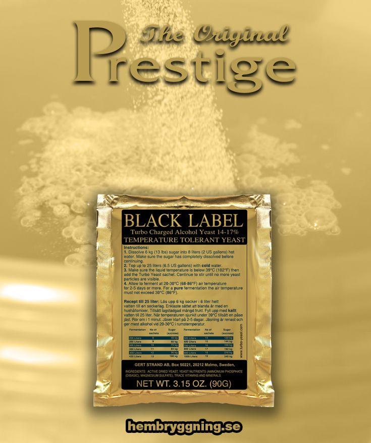Black Label 14-17% alkoholjäst. För jäsningar från 25 liter upp till 1000 liter. Jäser klart på 3-5 dagar. Temperaturtolerant, robust jäst.