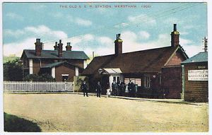 MERSTHAM-Railway-Station-Surrey-Postcard-Adamstone-Series