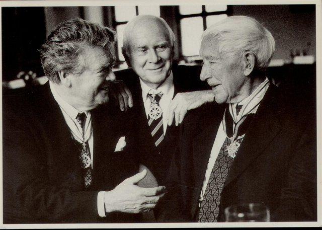 Hermann Prey, Vicco von Bülow, Ernst Jünger  Pour le Mérite
