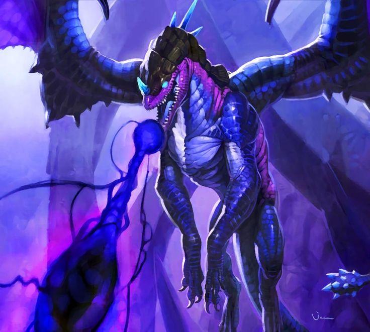 Twilight Drake Art Drachen Lila