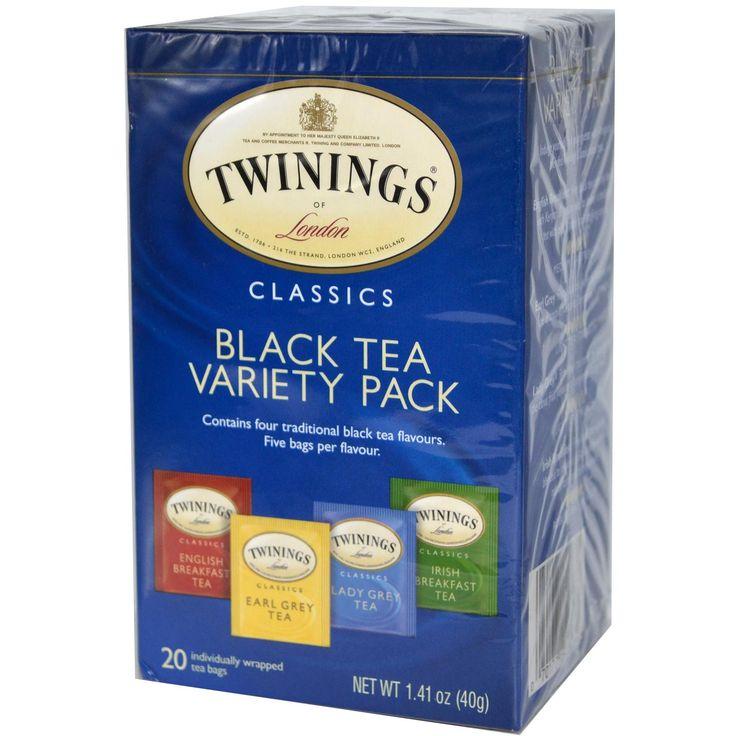 Twinings, Classics, Black Tea Variety Pack, 20 Tea Bags, 1.41 oz (40 g) I really like the pack.