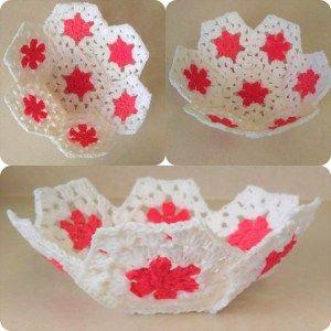 Granny Hexagon Crochet Dish Photo Tutorial