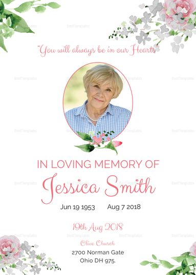Die besten 25+ Funeral invitation Ideen auf Pinterest - memorial service invitation template