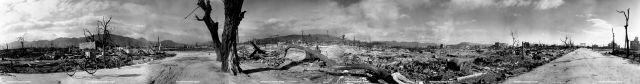Panoramical views of Hiroshima after the bomb