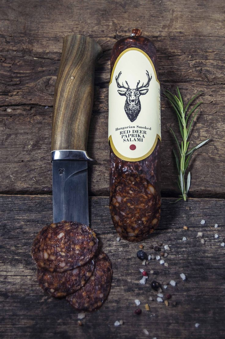 RED DEER PAPRIKA SALAMI    You'll love this traditional mouth-watering salami with Hungarian red paprika, made from Free Range Red Deer Meat. This mature smoked salami has a rich, full-bodied taste.