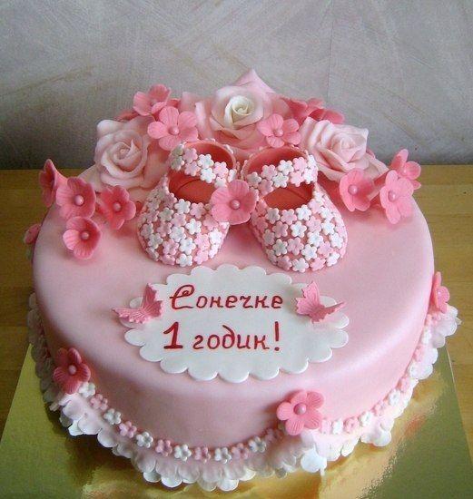 торт на годик девочке своими руками - Google-Suche