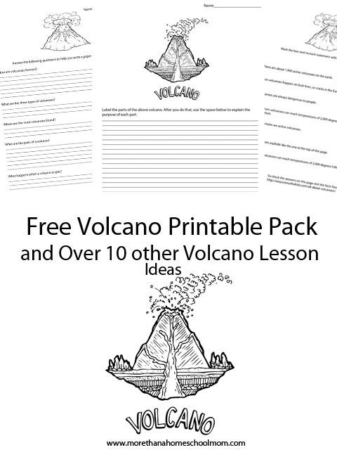 Free Volcano Printable Pack - Do you have a child studying volcanoes? Don't just make a Volcano project. Check out these free printables to help you make the most of your Science lesson.