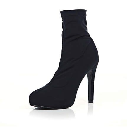 Black ankle sock stiletto boots £45.00