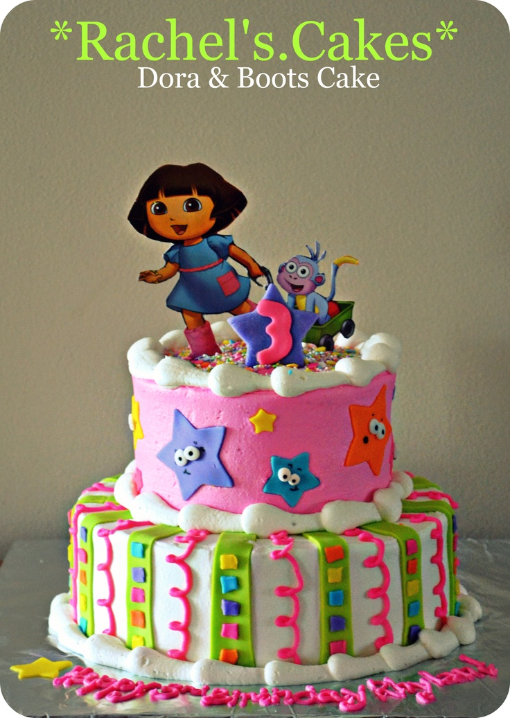 dora birthday cake and boots cake my own cakes cake 3655