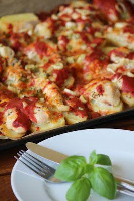 Bajkorada: Ziemniaki zapiekane z piersią z kurczaka i mozzare...