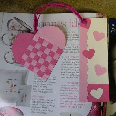 Fiches dactivité et idées de bricolage et loisirs créatifs: Coeur tissé en papier .:. Bricokid