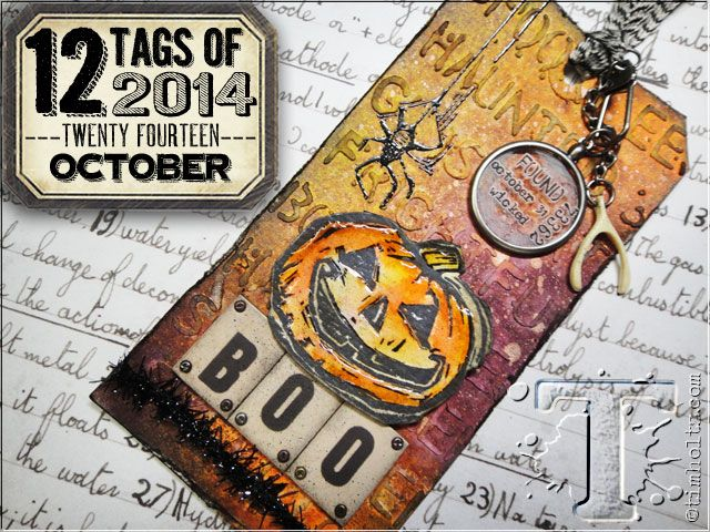 12 tags of 2014 - october... tim shows off his latest products in this tag. distress watercolor cardstock, mask sheets, layering stencil: halloween, cms197 carved halloween, distress inks, distress embossing ink, distress spray stains, distress markers, distress paint, black archival ink, texture paste, glossy accents and more....