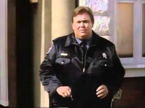 """Back in my Chicago days, John Candy was filming Only the Lonely across the street from my Laser Disc store. He came in (Chicago Police uniform) and purchased several Discs to the tune of 400.00. He reached for his wallet and says """"Oh' I must have forgotten my wallet in the trailer"""". I replied """"What are you a comedian?"""""""