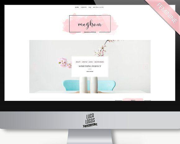 Feminine Wordpress Theme - Meghan by LucaThemesCom on @creativemarket