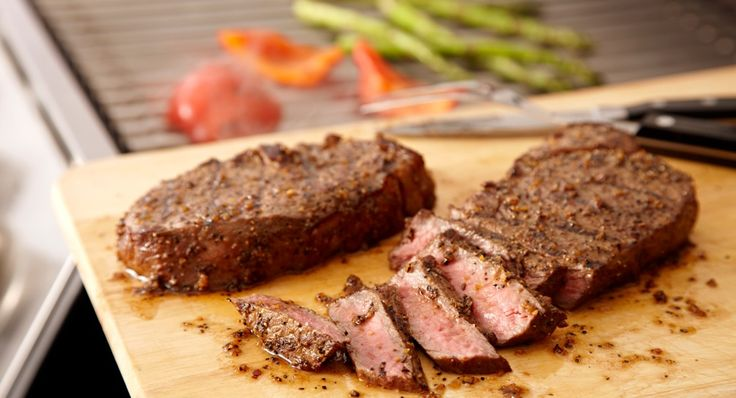Grill Mates Montreal Steak Seasoning paired with balsamic vinegar and ground mustard will jazz up any steak.