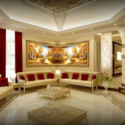 Luxury Modern Interior Family Sitting Designs House Designs Interior Designs Wall Decoration