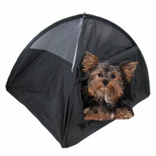 NEW Small Pop Up Camping Tent 14 Inch Black Nylon DOG Puppy Pet Cat Bed - http://www.thepuppy.org/new-small-pop-up-camping-tent-14-inch-black-nylon-dog-puppy-pet-cat-bed/