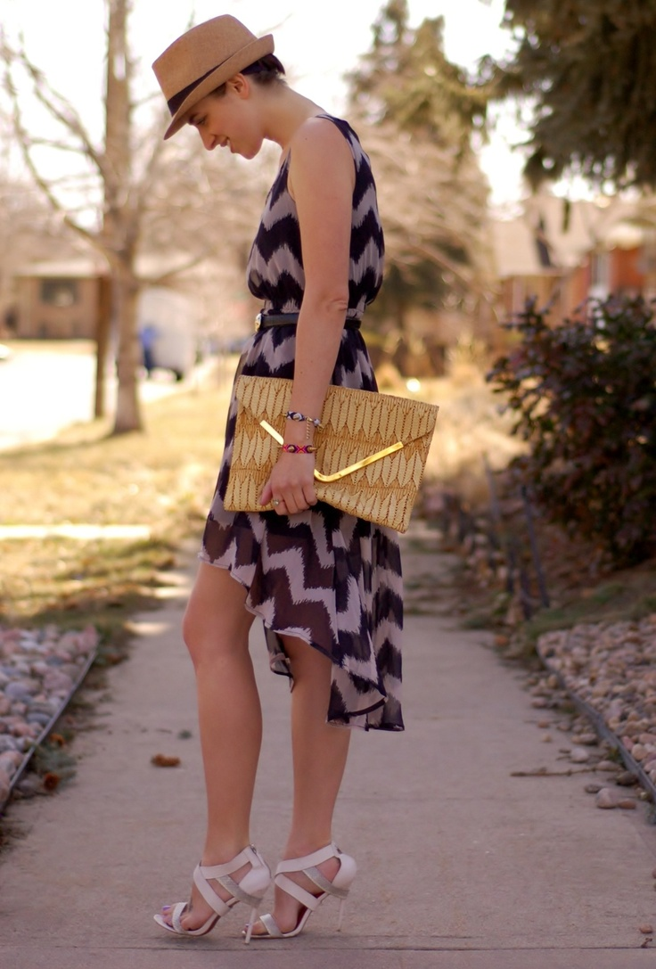 cafe #fashion #style #outfit #look , Forever21 in Hats, Forever21 in Dresses, Charles Jourdan in Heels / Wedges, Asos in Clutches
