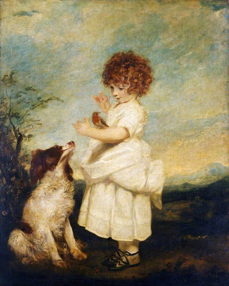 Master Philip Yorke (with faithful hound and robin red breast), 1787, by Joshua Reynolds