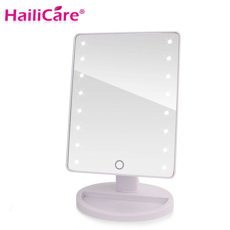 Awesome LED Touch Screen Makeup Mirror Professional Vanity Mirror With LED Lights Health Beauty