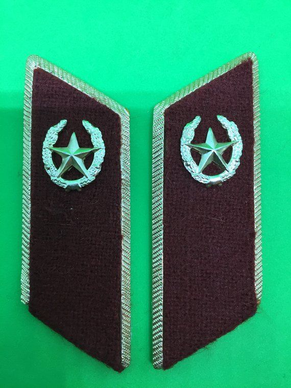 794bd6b2559 Soviet military buttonholes on a metal base (maroon) for military uniforms  with the emblems