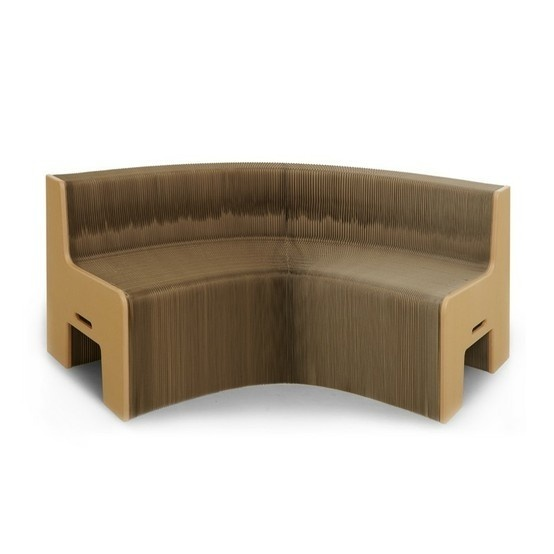 Curved Cardboard shapes - more aesthetically pleasing. #Furniture #Bench #Cardboard