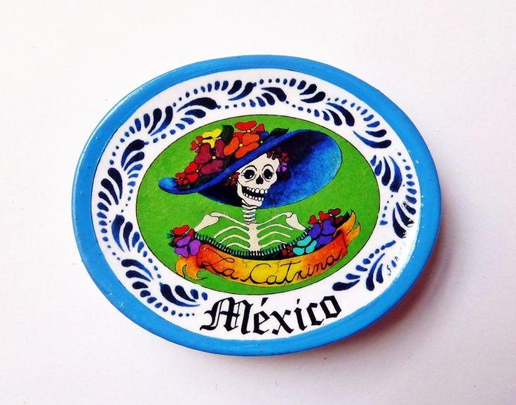 Piatto in miniatura - teschio messicano  di Casa Frida su DaWanda.com