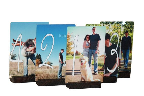 Table numbers: Engagement Pictures, Pictures Tables, Wedding Tables Numbers, Personalized Wedding, Cute Ideas, Wedding Table Numbers, Engagement Pics, Numbers Ideas, 5X7 Metals